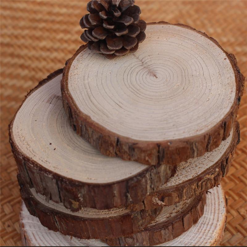10pcs DIY Handcraft Wood Material Blank DIY Wood Crafts Log Sheet Wooden Wedding Decoration Rustic DIY Wedding Favor Gifts