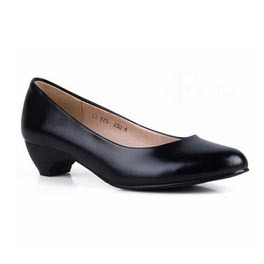 Hot Women Genuine Leather Office Shoes Clic Plain Cow Low Heeled Pumps Elegant Las Heels Size 41 In S From