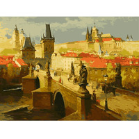 Y55 Frameless Europe Vintage Painting DIY Painting By Numbers Kits Acrylic Paint Drawing On Canvas Oil