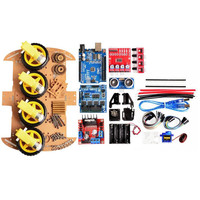 Power Module 4 Wheel Smart Robot Car Chassis Kits HC SR04 Sonic Tracking Module DIY Tool Compatible For Arduino