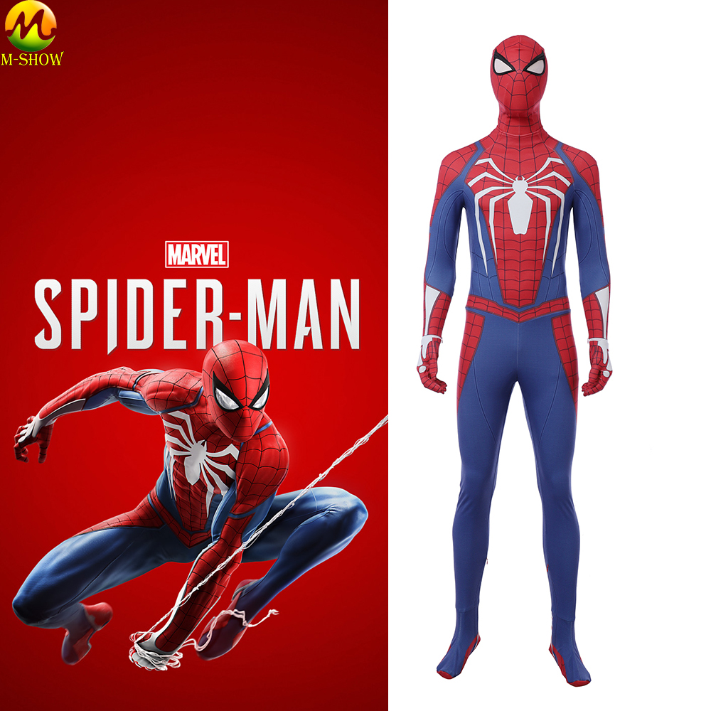 3D Print Game Marvel's Spider-Man Cosplay Costume Superhero PS4 Game Role Cosplay Jumpsuit Halloween Costume RPG For Adult
