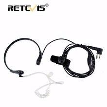 Throat MIC Earpiece 2PIN PTT Headset For Motorola Walkie Talkie GP300 GP308 CP250 PRO1150 P040 CP040 DTR410 SV10 Accessories