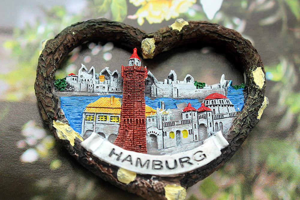 Hamburg city flag fridge magnet Germany
