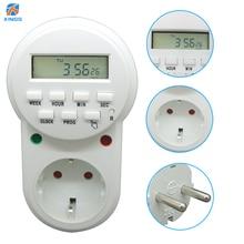 Programmable Adjustable 3680W 16A AC Electrical Power EU Socket Outlet Weekly Smart Digital Timer Switch Plug Adaptor Adapter стоимость