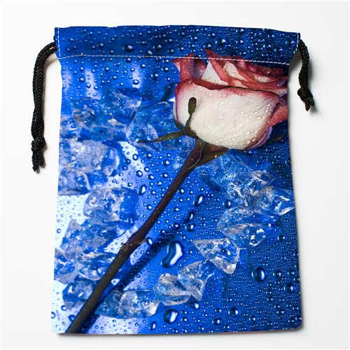 1 Bright Custom Printing Rose-flower Drawstring Shopping Bags Travel Storage Pouch Swim Hiking Toy Bag Unisex Multi Size18-12-05-104