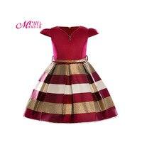 Baby Girl Princess Dress Kids Stripe Dresses For Girl Children European American 2018 Summer Fashion Clothing