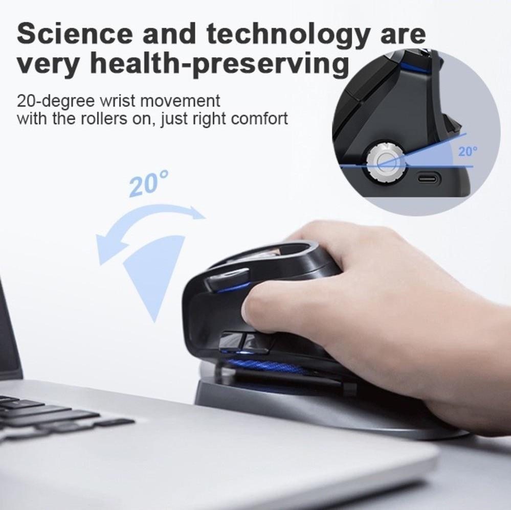 デラックス M618X 垂直ワイヤレス Bluetooth 3.0 4.0 マウス 2.4 2.4ghz の人間工学充電式レーザーモウズ 6D デュアルモード Usb コンピュータマウス  グループ上の パソコン & オフィス からの マウス の中 3