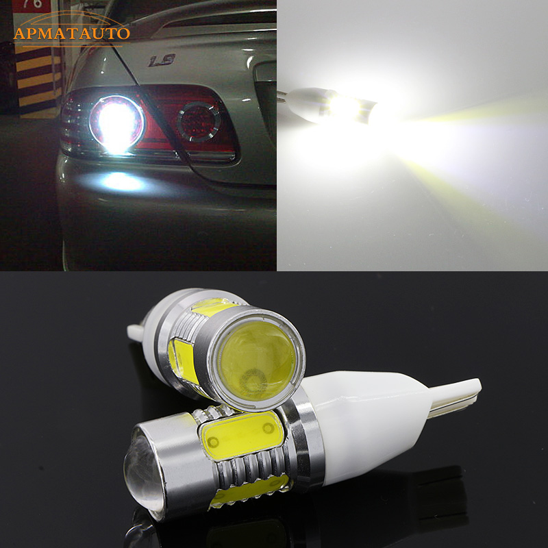 2 x T15 T16 W16W No Error Plasma Projector LED Blub Tail Backup Reverse Rear Lights For Mitsubishi ASX Lancer