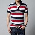 Поло 2016 летом новый мужской полосатый рубашки поло бренд высокого качества 100% хлопок мужская с коротким рукавом рубашки поло M/3XL