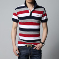 Polo 2016 summer new men's striped polo shirt brand of high quality 100% cotton men's short-sleeved polo shirt M/3XL