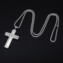 Christian Jewelry Jesus Cross Necklace Stainless Steel