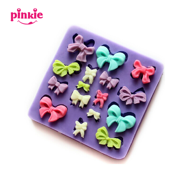 PINKIE mini bowknot fondant silicone mold chocolate mould candy resin molds silicone mould fondant cake decorating tool bakeware