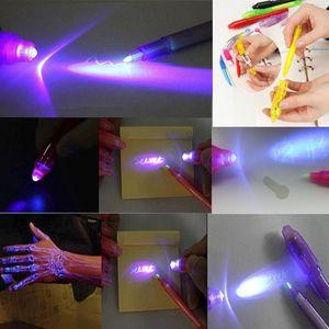 Оригинальная волшебная ручка с УФ-подсветкой, ручка с невидимыми чернилами, светится в темноте, со встроенным УФ-светом, подарки и защитная метка