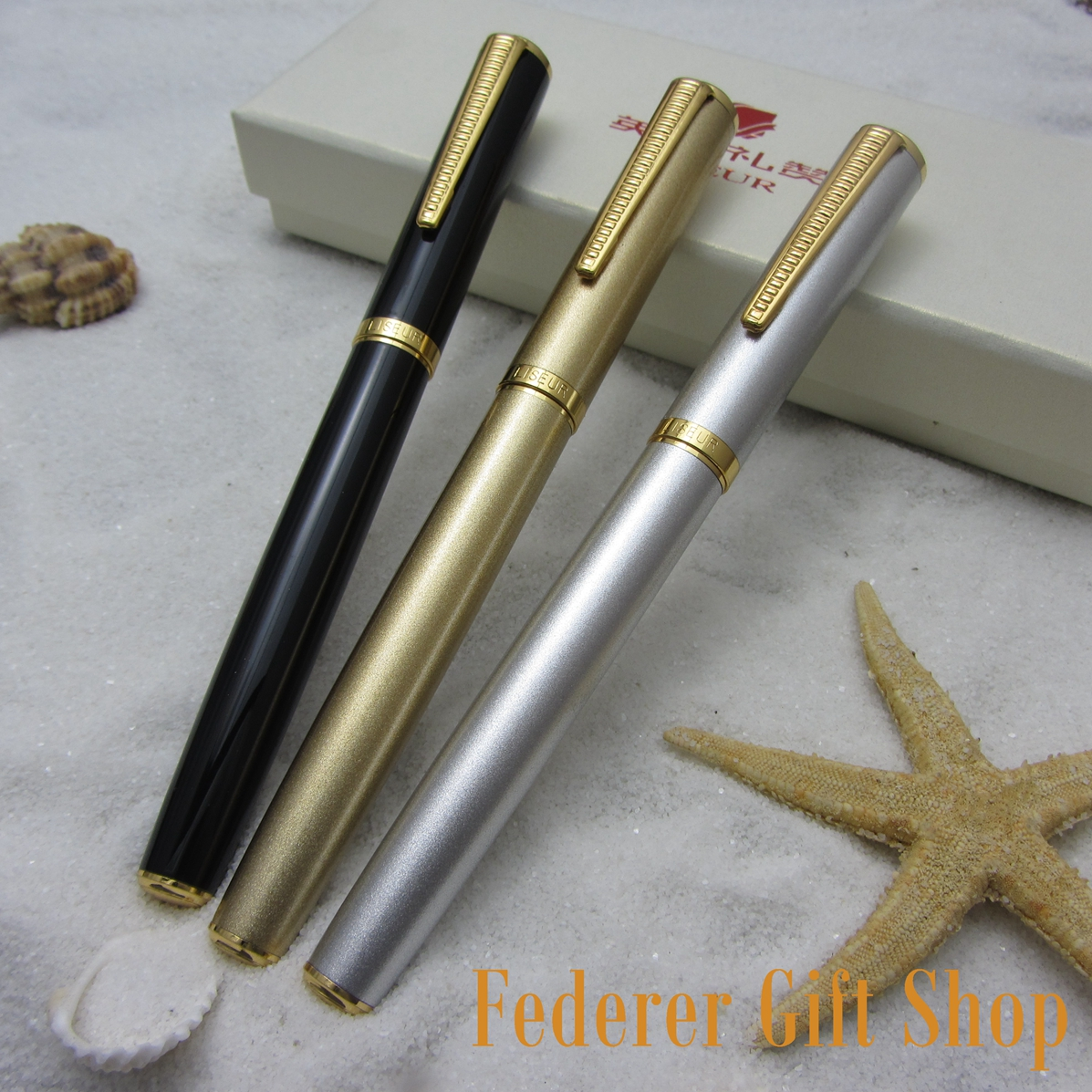 3 Color Set LISEUR L33 Metal Case Fountain Pen Unique Nib Gift Ink Pen3 Color Set LISEUR L33 Metal Case Fountain Pen Unique Nib Gift Ink Pen