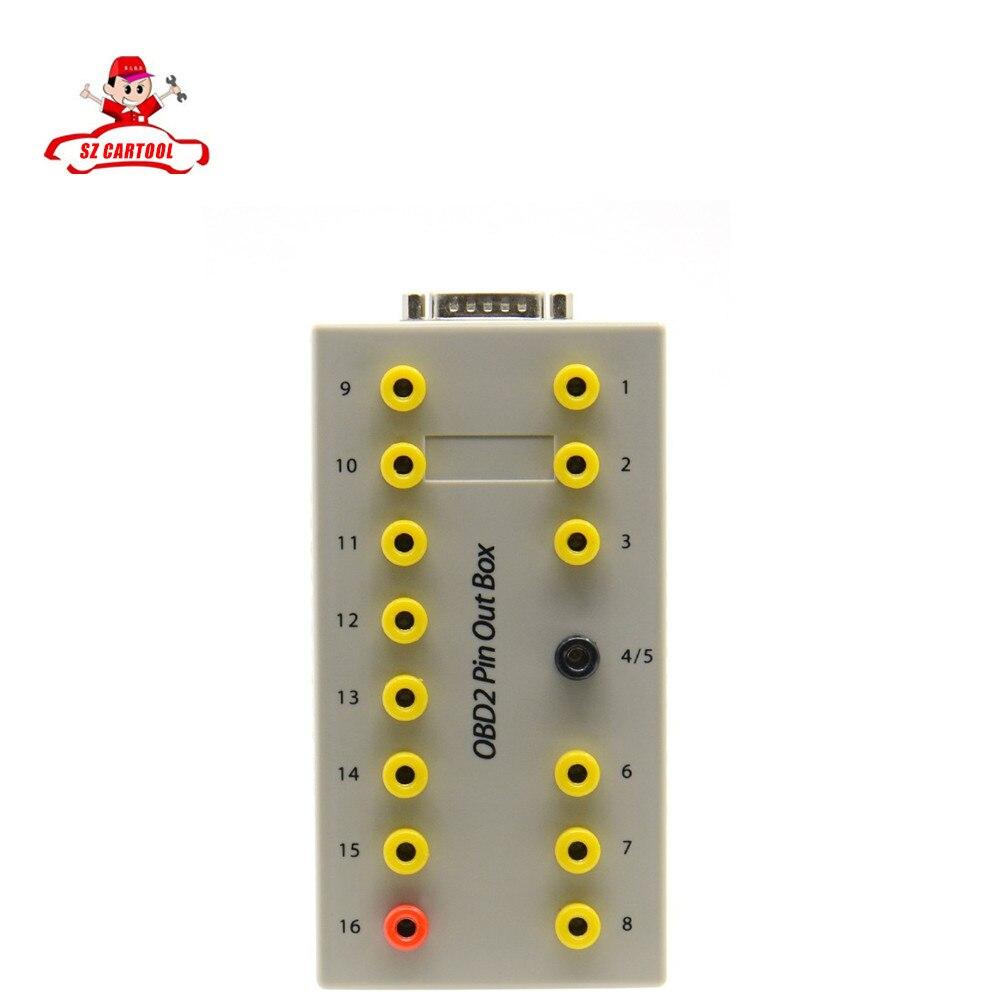 Prix pour Chaude!!! prix Usine De Voiture Câble De Diagnostic Obd2 Pin Out Boîte Breakout Testeur Auto Connecteur avec hight qualité