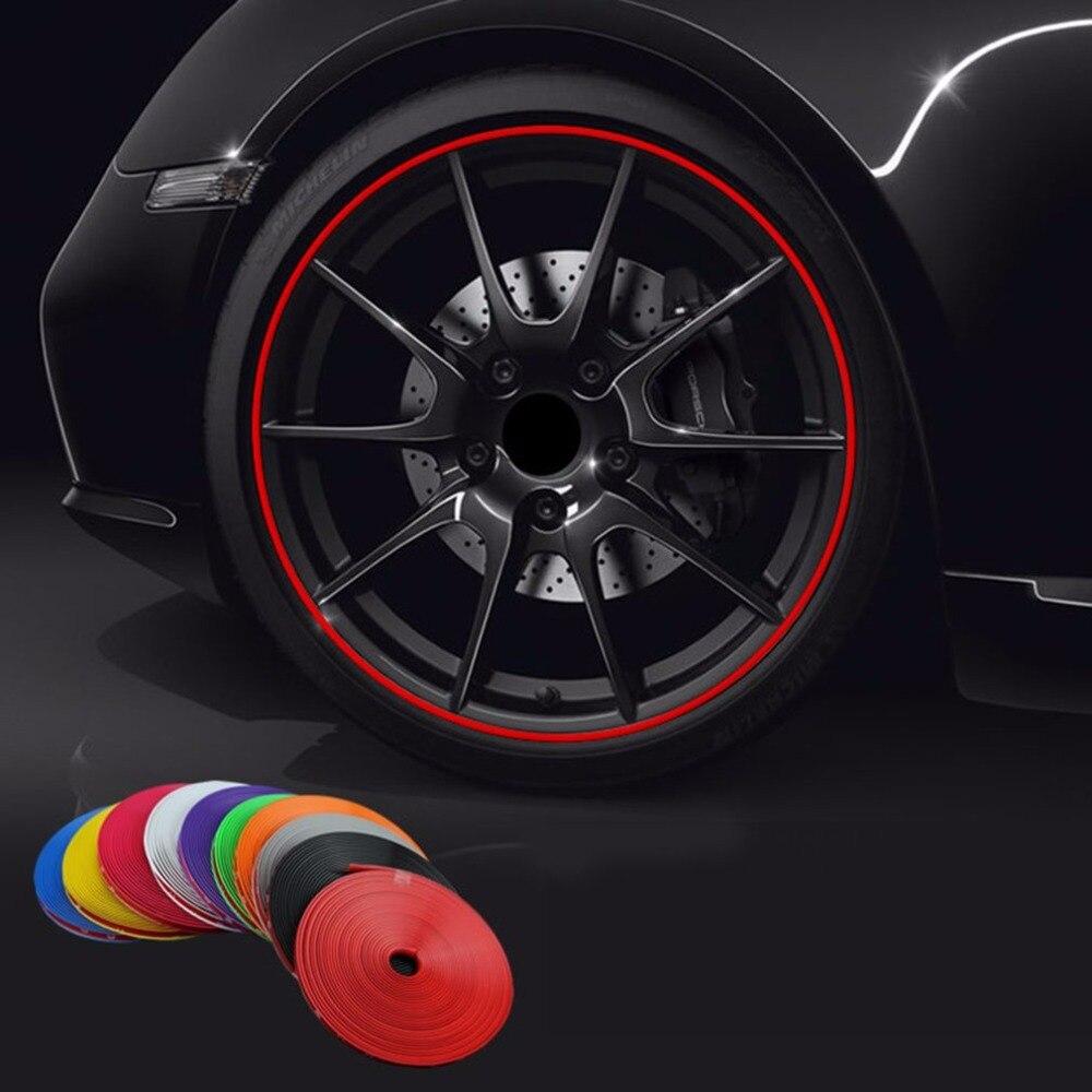 KKmoon 8M Car Stickers Car Vehicle Color Wheel Edge Rims Protectors Decor Strip, Tire Guard Line Rubber Moulding Trim Tire Protection