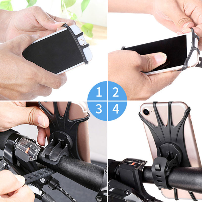 Bicycle Bracket Bicycle Mobile Phone Holder Silicone 360 Degree Rotating Stable Handlebar Mount MC889 in Bicycle Rack from Sports Entertainment