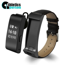 Athletics person A9 Smart Bracelet Talk tand Band Bluetooth Headset bracelet with Pedometer Music Sleep Monitor for Android  IOS