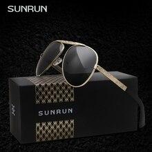SUNRUN hombres gafas de Sol Polarizadas Gafas de Sol Masculinas de Conducción Eyewears Gafas oculo de sol feminino Con Caja de 9506