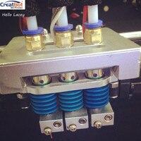 Обновления тройной экструдер для creatbot de, де плюс 3D принтеры насадка нагреватель DIY 3D принтеры аксессуары Запчасти