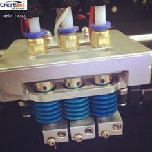 Extrusora triple para creatbot de actualización, de plus, dg cabeza de la impresora 3d boquilla/calentador de diy 3d impresora accesorios/partes