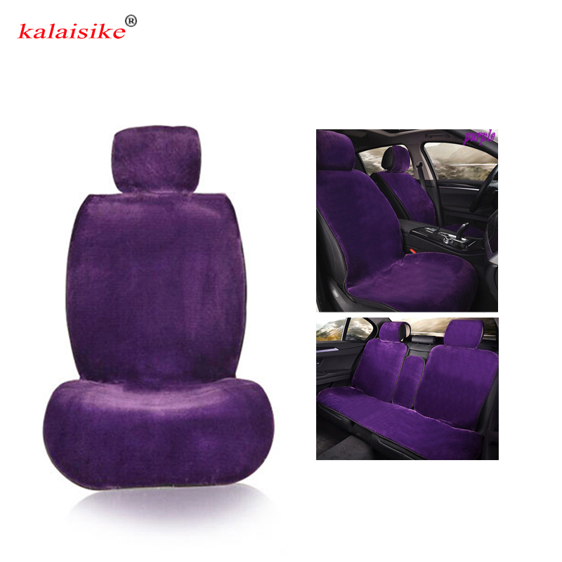 kalaisike plush universal car seat covers for Fiat all model 500 palio albea Bravo Freemont car styling accessories auto Cushion kkysyelva universal leather car seat cover set for toyota skoda auto driver seat cushion interior accessories