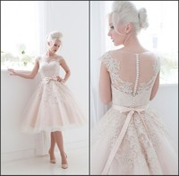 New 2014 Short Wedding Dresses The Bride Sexy Lace Wedding Dress Bridal Gown Plus Size Weddings