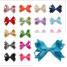 280pcs/lot  Handmade Grosgrain Ribbon Bow Girls Hair Accessories Dovetail Hair Bows