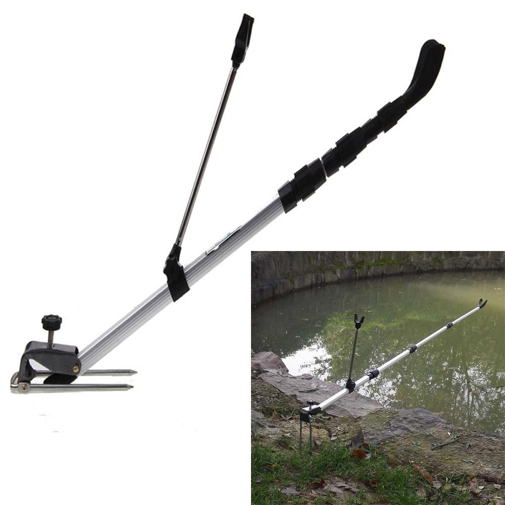 137CM držák rybářského prutu hliníková slitina rybářský prut držák stojanu ruční tyč držák tyče nastavitelný teleskopický rybářský nástroj