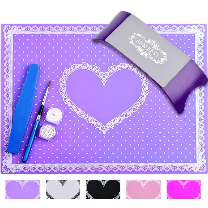 Kreativ Faltbare Nail Art Maniküre Praxis Werkzeuge Silikon Hand Kissen Halter Pad Matte Heißer Verkauf Handauflagen