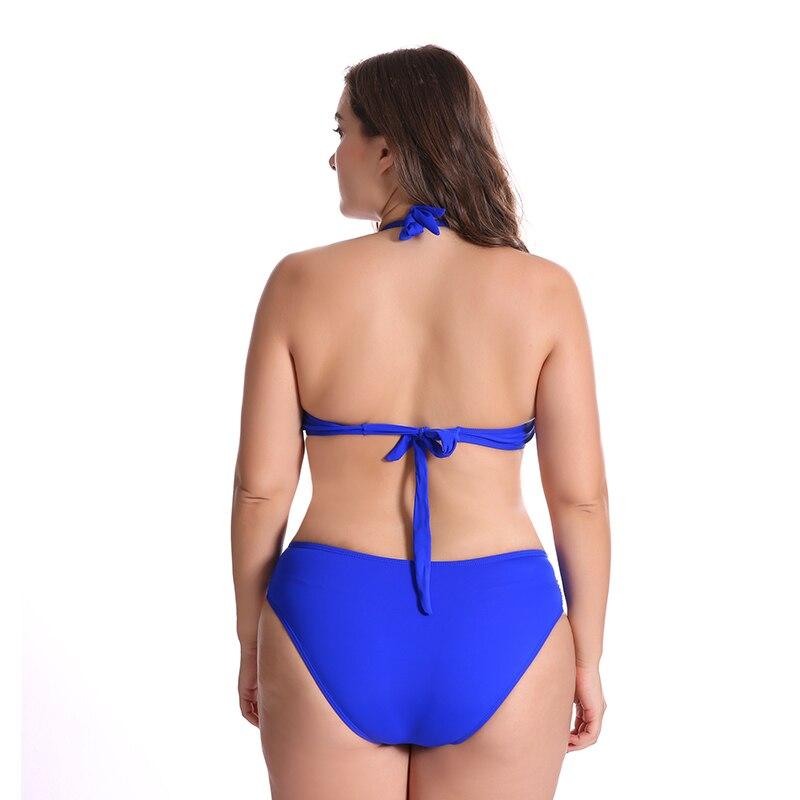 2018 Swimwear Push Up Bikini Sexy Plus Size Bikini Set Big Cup Women Bathing Suits Swimsuits Plus Size Female Swimming Swimwear in Bikinis Set from Sports Entertainment