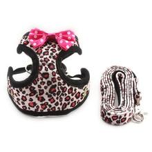 Armi store Fashion Leopard Pattern Dog Harness Cloth Chest Strap Dogs Collar Harness Lead 6044022 Pet Leash Supplies 5 Sizes