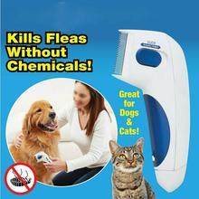 Собака электрический Терминатор щетка анти удаление Kill Lice Cleaner электрическая головка Pet FLAS электронная вшей расческа для собаки