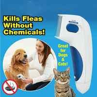 Cão Elétrico Matar Piolhos Terminator Anti Escova Remoção Cleaner Cabeça Elétrica Pet Pulgas Piolhos Eletrônico Comb para o Cão