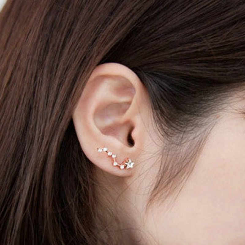 E538 cheap jewelry cute crystal seven Star with jewelry earrings Korea Big Dipper earrings Fashion star earrings