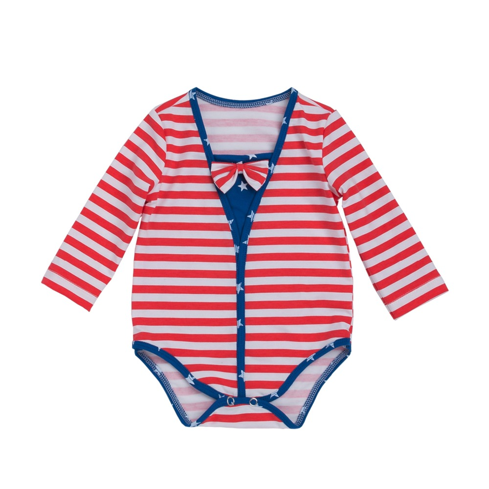 2017 New summer infant striped long sleeve bodysuits fashion baby boys cotton clothes kids jumpers boys sport outwear 17S907