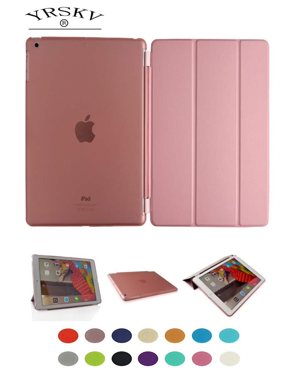 Case for iPad Air 1 2013 Release cover A1474 A1475 A1476 YRSKV split Smart cover Magnet wake up sleep For apple iPad Air1 shell for apple ipad air 1 full wrap leather case folio folding cover case with passport case card slot 9 7 inches a1474 a1475 ynmiwei