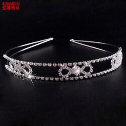 AINAMEISI 2018 New Princess Bridal Tiara Fashion Wedding Hair Accessories Gift Crystal Crown For Women Headbands Hair Jewelry
