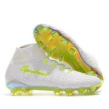 616550c0739 Soccer Shoes For Men High Ankle Soccer Cleats Original Hypervenom Phantom  III 3 DF FG Football Boots Zapatos Futbol Profissional