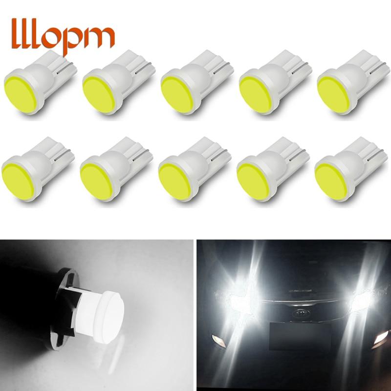 Автомобиль светодиодный 10 шт./лот T10 194 168 W5W 6 светодиодный COB чип двери автомобиля свет Габаритные огни Оптовая автомобиля боковой свет лампы...