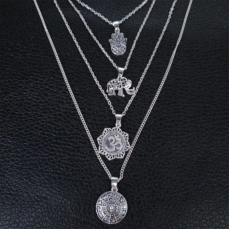 Women's Boho Style Multilayer Necklace 3