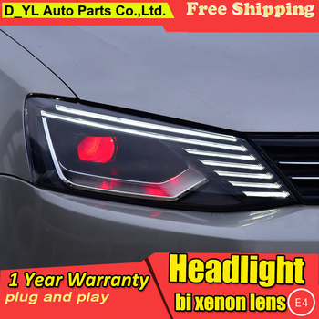 DY_L Car Styling for VW JETTA MK6 2011 2012-2015-2017 Headlights LED Light of Audi Style Bi-Xenon Lens HID Automobile