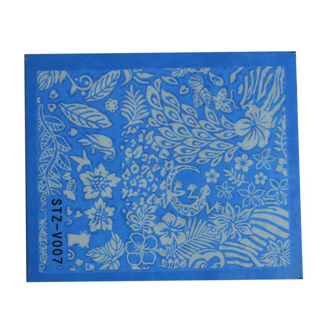 Black White Lace Flower Nail Art Stickers (48 Sheet)