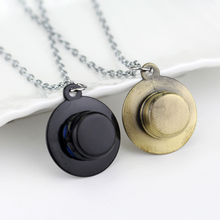 2 Colors Hot  Fashion vintage punk Hat Necklace Bronze Plated One Piece Luffy Pendant Gift Jewelry