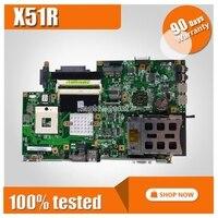 X51R материнская плата REV 2,1 DDR2 667 DRAM для ASUS X51R X51 материнская плата для ноутбука X51R материнская плата X51R материнская плата Тест 100% OK