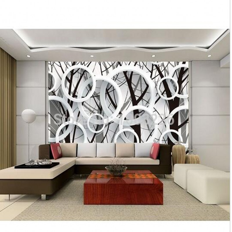 Beibehang ramos elegant silhouette simplicity circular 3d wall 3d wallpaper mural paper wall murals large roll wallpaper in wallpapers from home improvement