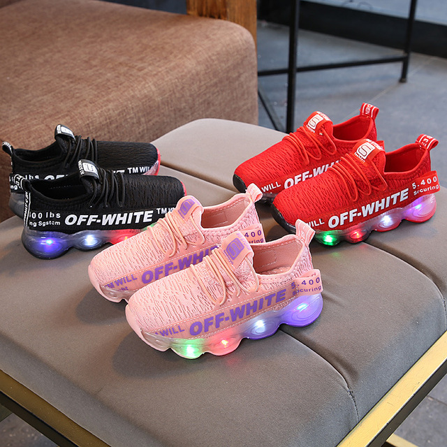 c675fb242394 LED New sneakers brand infant tennis colorful lighting girls boys shoes  Fashion kids sneakers noble children