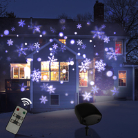 DACHAN IP65 Remote Control LED Christmas Laser Snowflake Projector Outdoor Holiday Garden House Wall Wedding Lights Decoration
