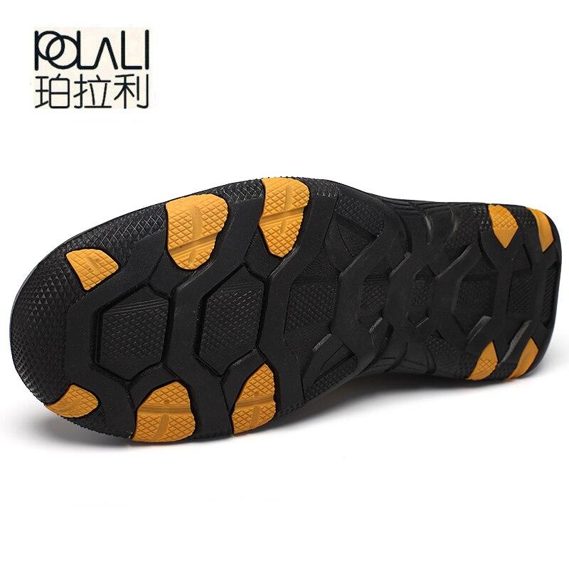 Qualité kaki Polali Mocassins Chaussures Extérieure Daim Confort gris Marron Véritable Masculino Sapato Appartements Casual Hommes Cuir En waFaqIA