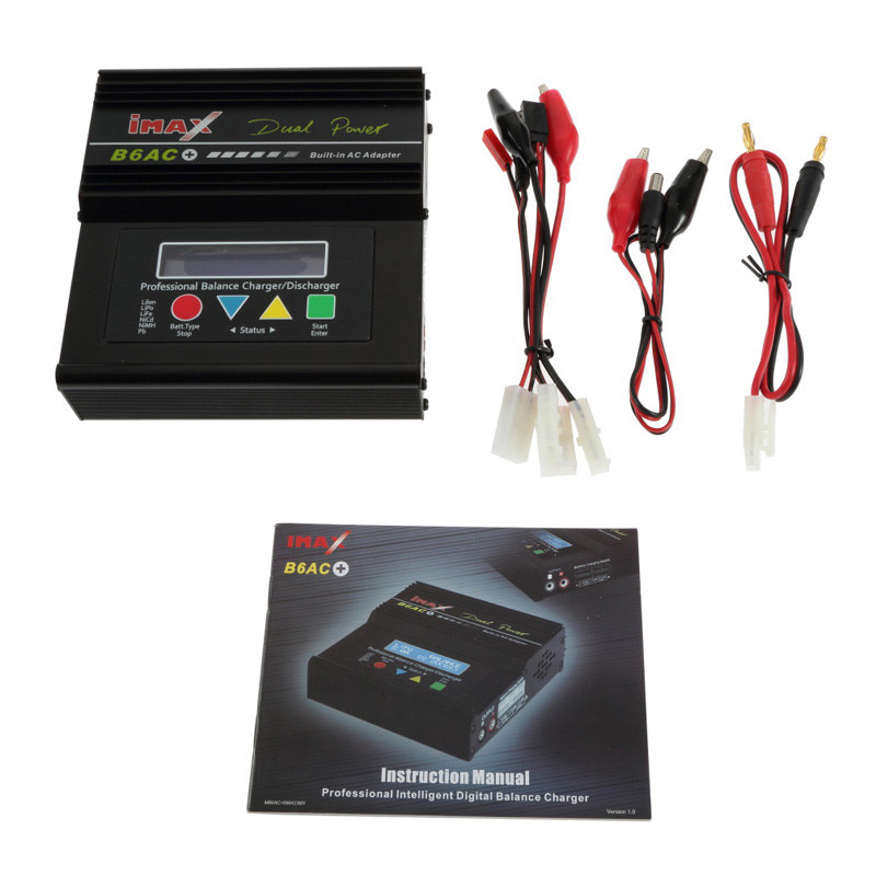 1set iMAX B6-AC B6 AC Lipo NiMH 3S 11.1V 7.4V Digital RC Battery Balance Charger